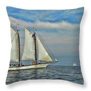 Sailing The Open Seas Throw Pillow