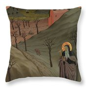 Saint Anthony The Abbot In The Wilderness Throw Pillow
