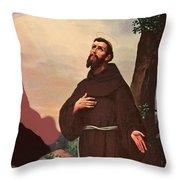 Saint Francis Throw Pillow