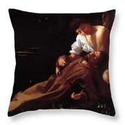 Saint Francis Of Assisi In Ecstasy Throw Pillow