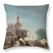 Saint Isidore's Day At The Saint's Hermitage Throw Pillow