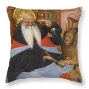 Saint Jerome Extracting A Thorn From A Lion's Paw Throw Pillow