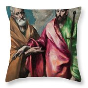Saint Peter And Saint Paul Throw Pillow