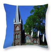 Saint Peter's Roman Catholic Church In Harpers Ferry Throw Pillow