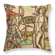 Saint Sebastian Throw Pillow