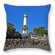 Saint Simons Island Throw Pillow