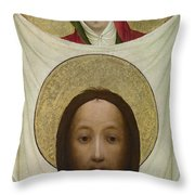 Saint Veronica With The Sudarium Throw Pillow