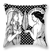 Saints Perpetua And Felicity Throw Pillow