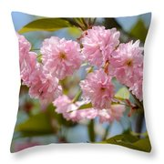 Sakura Flowers Throw Pillow