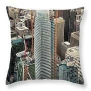Salesforce Tower In San Francisco Throw Pillow