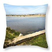Salt Marshes - Trapani Salt Flats Throw Pillow