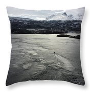 Saltstraumen View Throw Pillow