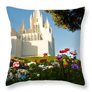 San Diego Flowers Throw Pillow