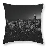 San Francisco At Sunset Throw Pillow