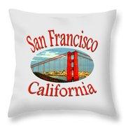 San Francisco California Design Throw Pillow