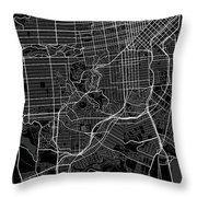 San Francisco California Usa Dark Map Throw Pillow