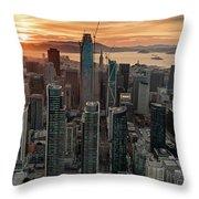 San Francisco Financial District Skyline Throw Pillow