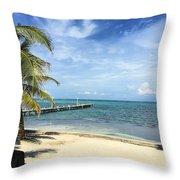 San Pedro Belize Throw Pillow