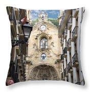 Basilica Of Saint Mary Of The Chorus - San Sebastian - Spain Throw Pillow