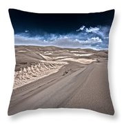 Sand Dunes Of Colorado Throw Pillow