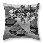 Sand Harbor Ripples Throw Pillow