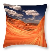 Sandstone Wave Curl Throw Pillow