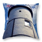 Sandy Neck Lighthouse Throw Pillow