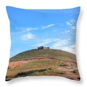 Santa Barbara Castle - Lanzarote Throw Pillow