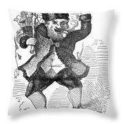 Santa Claus, 1849 Throw Pillow