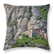 Santa Cova Monserratt Spain Throw Pillow