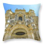 Santa Cruz Monastery Facade Throw Pillow