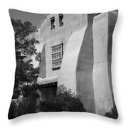Santa Fe - Adobe Church Throw Pillow