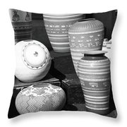 Santa Fe - Pottery Throw Pillow