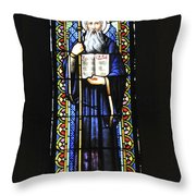 Santa Maria De Montserrat Abbey Throw Pillow