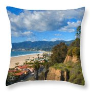Santa Monica Ca Steps Palisades Park Bluffs  Throw Pillow