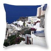 Santorini Overview Throw Pillow