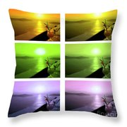 Santorini Sunsets Throw Pillow
