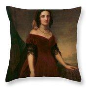 Sarah Polk, First Lady Throw Pillow