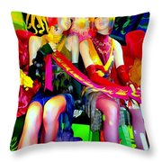Sassy Sisters Throw Pillow