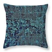 Satellite View Of Oklahoma City Throw Pillow