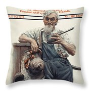 Saturday Evening Post Throw Pillow
