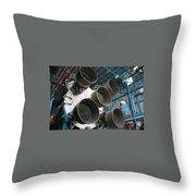 Saturn V Rocket Throw Pillow