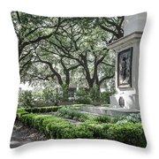Historic Wright Square - Downtown Savannah Georgia Throw Pillow