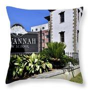 Savannah Law School Throw Pillow
