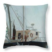 Scallop Boat Throw Pillow