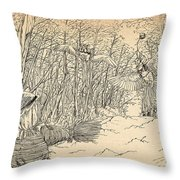 Scarecrow Manuvers Throw Pillow