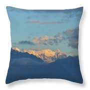 Scenic Ladscape Of Northern Italy Of The Snow Capped Alps  Throw Pillow