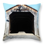 Schofield Ford Covered Bridge Throw Pillow