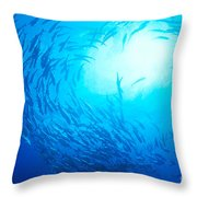 School Of Bigeye Jacks Throw Pillow