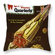 Sci-fi Magazine Cover, 1931 Throw Pillow